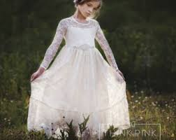 Flower Girl Dress Lace Dresses Country Ivory