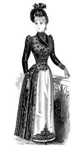 Victorian Lady Clipart Black And White Clip Art Free Vintage Fashion Image Antique LadiesVictorian DressesVintage