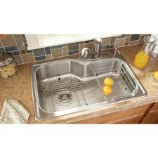 Franke Sink Clips Home Depot by Glacier Bay All In One Top Mount Stainless Steel 33x22x8 4 Hole