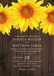 Best Vintage Rustic Sunflower Wedding Invitations Creative Country Cards