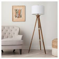 3 Globe Arc Floor Lamp Target by Oak Wood Tripod Floor Lamp Threshold Target