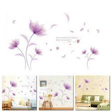 sommer flieder lila blume wandtattoo wandsticker