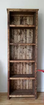 Bookshelves Diy Rustic Farmhouse Bookshelf Best Ideas Pinterest