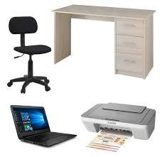 ensemble ordinateur de bureau pc portable hp 14 bureau chaise imprimante à 299 99