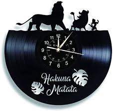 der könig der löwen wanduhr vinyl wanduhr 12 zoll