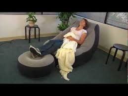 Intex Inflatable Sofa With Footrest by Intex Ultra Lounge Chair And Footrest Combo Youtube
