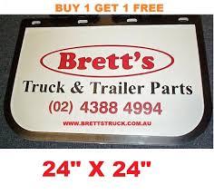 100 Hino Truck Parts MUD0005 BUY 1 GET 1 FREE GENUINE BRETTS TRUCK PARTS MUDFLAPS 24