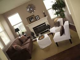 aesthetic living room designs with brown couches and decorative
