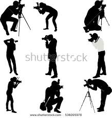 photographers silhouettes collection vector