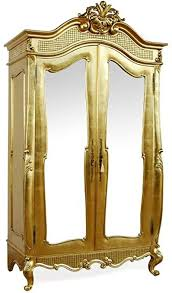 casa padrino barock kleiderschrank gold b 107 x h 229 cm