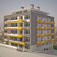 Apartment Building 01 V9 3D Model In Buildings 3DExport