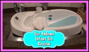 baby bathtub review 4moms infant tub youtube