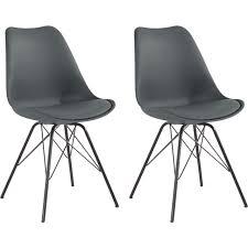 homexperts esszimmerstuhl ursel 01 2 stück sitzschale mit sitzkissen in kunstleder