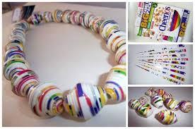 DIY Paper Necklaces Tutorial