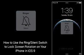 Use Ring Silent Switch to Lock Screen Rotation in iOS 9 on iPhone