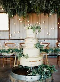 Elegant White And Green Wedding Cakes For Rustic Ideas 2017
