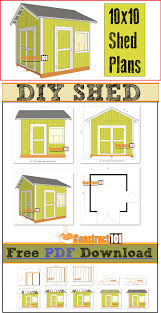 shed plans 10x10 gable shed pdf download shopping lists