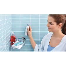 duschablagekorb aluminium tesa 40200 00000 00 bad accessoires aluxx verchromt powerstrips waterproof einstöckig inkl klebelösung