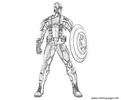 Standing Still Captain America Coloring Page8230 Pages Print Download 487 Prints