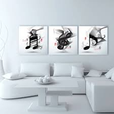 3 Panel Classical Black And White Piano Music Notes Modern Wall Art Home Decoration Printed Oil Painting Pictures Canvas Prints In Calligraphy