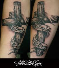 Wood Cross Tattoo 3d Wooden Tattoos Related Keywords