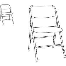 100 Folding Chair Art Steel With TwoBrace Support By Alera ALEFC94T