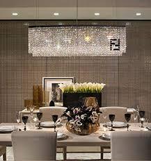 Siljoy Modern Oval Rectangular Chandelier Dining Room Chandeliers Lighting Island Crystal Pendant Lamp H16quot