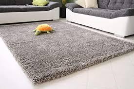 shaggy teppich hochflor langflor top qualität und weich silber grau größe 140x200 cm