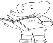 Printable Little Babar Cartoon S For Kidsb049 Coloring Pages