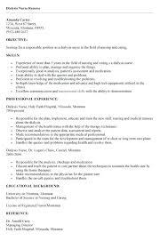 Sample Resume For Hemodialysis Nurse Plus Help Nursing