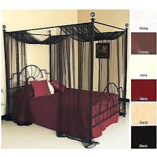 Blackout Canopy Bed Curtains by Beds Canopy Bed Drapes Queen For Sale Curtains Black Target