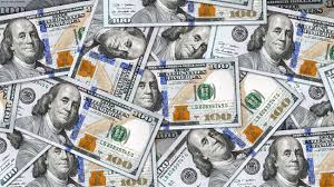 Money Background With Lots New 100 US Dollar Bills Ready