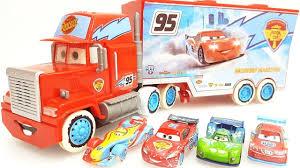 100 Disney Cars Mack Truck Hauler Construction Videos Pixar Toys For