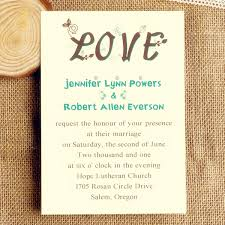 Romantic And Creative Love Wedding Invitations IWI010