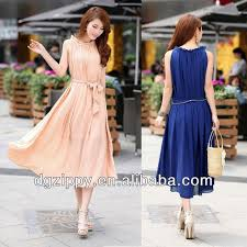 Korean Fashion Chiffon Maxi Dress Women Clothing Online Store