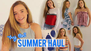 TRY ON SUMMER CLOTHING HAUL Brandy Melville Urban Outfitters More
