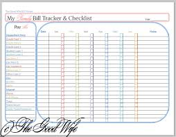 But Sometimes Concise Is Best So I Designed This Worksheet As A Way To Combine Both The Bill Tracker And Checklist