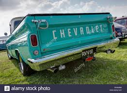 100 1963 Chevrolet Truck Turquoise C10 V8 Pickup Truck Back End View Stock