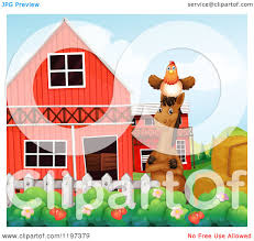 Cartoon Of A Hen On A Horse's Head By A Barn - Royalty Free Vector ... Farm Animals Barn Scene Vector Art Getty Images Cute Owl Stock Image 528706 Farmer Clip Free Red And White Barn Cartoon Background Royalty Cliparts Vectors And Us Acres Is A Baburner Comic For Day Read Strips House On Fire Clipart Panda Photos Animals Cartoon Clipart Clipartingcom Red With Fence Avenue Designs Sunshine Happy Sun Illustrations Creative Market