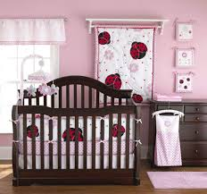 Mint And Mini Floral Baby Bedding Girl Crib Set In Coral of Mini