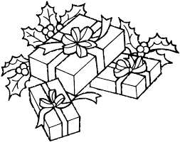Christmas Gift Coloring Pages 1 Purple Kitty