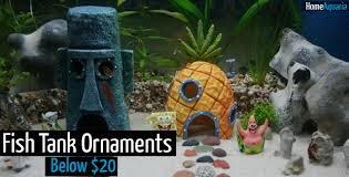 Spongebob Fish Tank Accessories by Fish Tank Ornaments Spruce Up Your Tank For Below 20 Home Aquaria