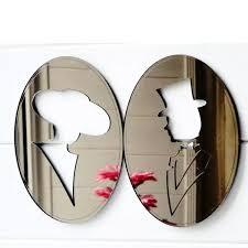coole vintage look oval bronze spiegel acryl tür schild männer frauen badezimmer zeichen toilette beschilderung buy acryl tür zeichen wc signage bad