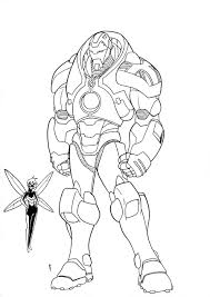 Iron Man Hulkbuster Armor Coloring Pages Sketch Page