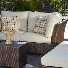 Corvus Oreanne 8 piece Brown Wicker Patio Furniture Set Free