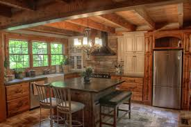 Rustic Log Cabin Kitchen Ideas by Rustic Log Cabin At Blackberry Landing Home Design Garden
