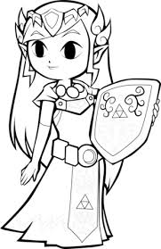Click To See Printable Version Of Toon Princess Zelda Coloring Page