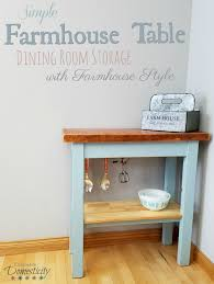 Simple Farmhouse Table Dining Room Storage With Gorgeous Style