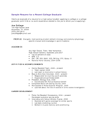 College Graduate Resume With No Work Experience New Sample For
