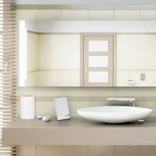 relaxdays kosmetikeimer bambus schwingdeckel moderner bad mülleimer kunststoff 5 5 l h x d 26 5 x 18 cm weiß